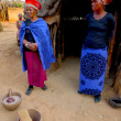 Zulu woman in traditional closes in Shakaland Zulu Village. - Stock Photo