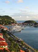 Gustavia harbor, St Barth, French West Indies — Stock Photo