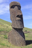 Moai at quarry, Eastern Island, Chile — Stock Photo