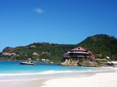 The beautiful Caribbean beach at St Barth — Stock Photo