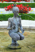 The beautiful fountain in Mirabell Gardens, Salzburg, Austria — Stock Photo