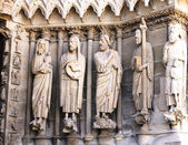 Statues at Rheims Cathedral, France — Stock Photo