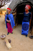 Zulu woman in traditional closes in Shakaland Zulu Village. — Stock Photo