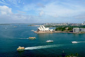 Areal view at Opera House and Sydney harbor in Sydney, Australia — Stock Photo