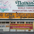 The Nathan's rebuilding after damage by Hurricane Sandy at Coney Island. — Stock Photo