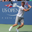 Professional tennis player Mardy Fish practices for US Open at Louis Armstrong Stadium at Billie Jean King National Tennis Center — Stock Photo #22299873