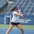 :Professional tennis player Anastasia Pavlyuchenkova practices for US Open at Billie Jean King National Tennis Center — Stock Photo
