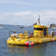 Stock Photo: Yellow submarine in Gustavimarina, St. Barths