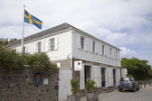 Swedish consulate in Gustavia, St Barths — Stock Photo