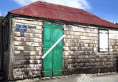 Old traditional house in Gustavia at St Barths, French West Indies — Stock Photo