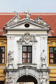 Statues in the great court of the Durnstein abbey , Lower Austria — Stock Photo
