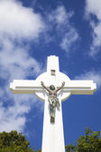 Gustavia Cross, St. Barths, French West indies — Stock fotografie