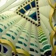 The world&#039;s tallest atrium in Burj Al Arab hotel  in Dubai. - Stock Photo