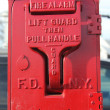 Old FDNY fire alarm box - Stock Photo
