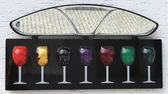 Colorful wine glasses — Stock Photo