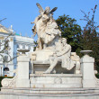 Ferdinand Raimund monument in Vienna, Austria - Stock Photo