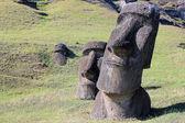 Moai at Quarry, Easter Island, Chile — Stock Photo