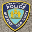 Stock Photo: Port Authority Police New York New Jersey emblem on fallen officers memorial