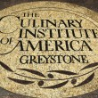 Stockfoto: Culinary Institute of Americemblem in NapValley, California