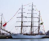 Brazilian tall ship Cisne Branco visits New York during Fleet Week 2012 — Stock Photo