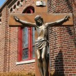 Stock Photo: Bronze statue of Jesus Christ crucified