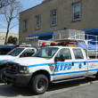 NYPD emergency service vehicles ready to help in Staten Island, NY — Stock Photo