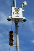 NYPD security camera placed at the intersection in Staten Island, NY — Stock Photo