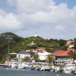 Stock Photo: Waterfront at GustaviHarbor at St Barths, French West Indies
