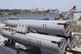 Torpedoes on US Navy destroyer during Fleet Week 2012 — Stock Photo