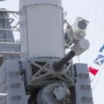 Постер, плакат: The Phalanx gun on US Navy destroyer during Fleet Week 2012