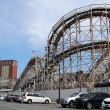 Stock Photo: Historical landmark Cyclone roller coaster in Coney Island section of Brooklyn