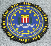 FBI emblem on fallen officers memorial in Brooklyn, NY — Foto de Stock