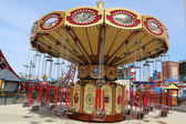 Lynn's Trapeze swing carousel in Coney Island Luna Park — Stock Photo