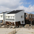 Destroyed beach house three months after  of Hurricane Sandy in Far Rockaway, NY — Stock Photo