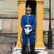 Royal Guard protecting  Royal Palace in Stockholm, Sweden — Stockfoto