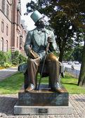 Hans Christian Andersen statue in Copenhagen — Foto Stock