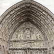 Main Entrance of Notre Dame de Paris - Portal of the Last Judgment  — Foto Stock