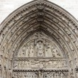 Main Entrance of Notre Dame de Paris - Portal of the Last Judgment  — Stok fotoğraf
