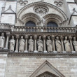 Kings statues at Cathedral Notre Dame de Paris — Stock Photo