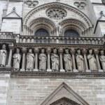 Kings statues at Cathedral Notre Dame de Paris — Stock Photo