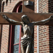 Bronze statue of Jesus Christ crucified — Stockfoto