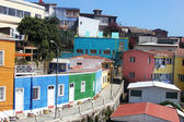 Colorful houses at Hill Bellavista in Valparaiso, Chile — Stock Photo