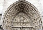 Główne wejście notre dame de paris - portal sąd ostateczny — Zdjęcie stockowe