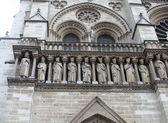 国王雕像在大教堂巴黎圣母院巴黎 — 图库照片