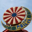 Coney Island Luna Park emblem in Brooklyn, New York - Stock Photo