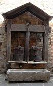 Lagar estilo de cesta feito em 1780 originou-se da toscana rural — Foto Stock
