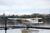 море самолет приключения бобра самолет dhc-2 готов к полету с туристами на залив сан-франциско — Стоковое фото