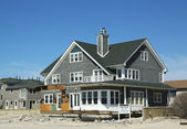 Destroyed beach property for sale in devastated area six months after Hurricane Sandy — Stock Photo