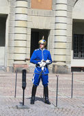 Royal Guard protecting Royal Palace in Stockholm — Stock Photo