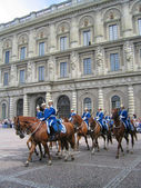 The ceremony of changing the Royal Guard in Stockholm, Sweden — Stock Photo